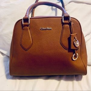 Calvin Klein tan/brown tote bag